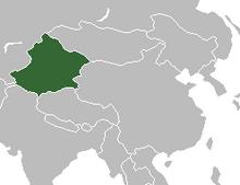 Location of Xinjiang
