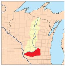 Location of Wisconsin