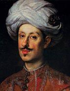 Justus Sustermans - Portrait of Ferdinando II de' Medici Dressed in Oriental Costume - WGA21971