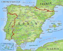 Location of Kingdom of Spain