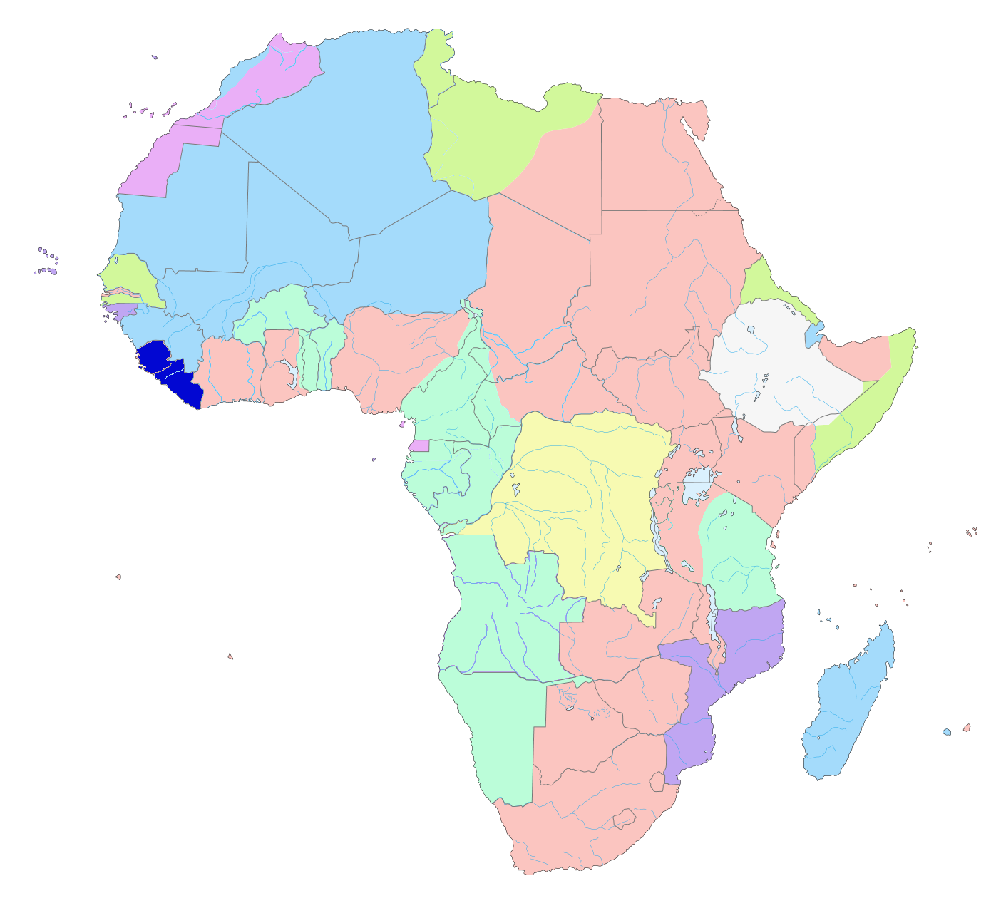 Map of colonial Africa as in 1913.png