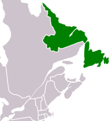Location of East Canada