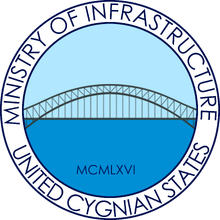 Seal of the Cygnian Ministry of Infrastructure.png