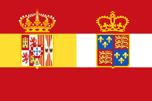 Bandera de Brispaña (El Águila y la Rosa)