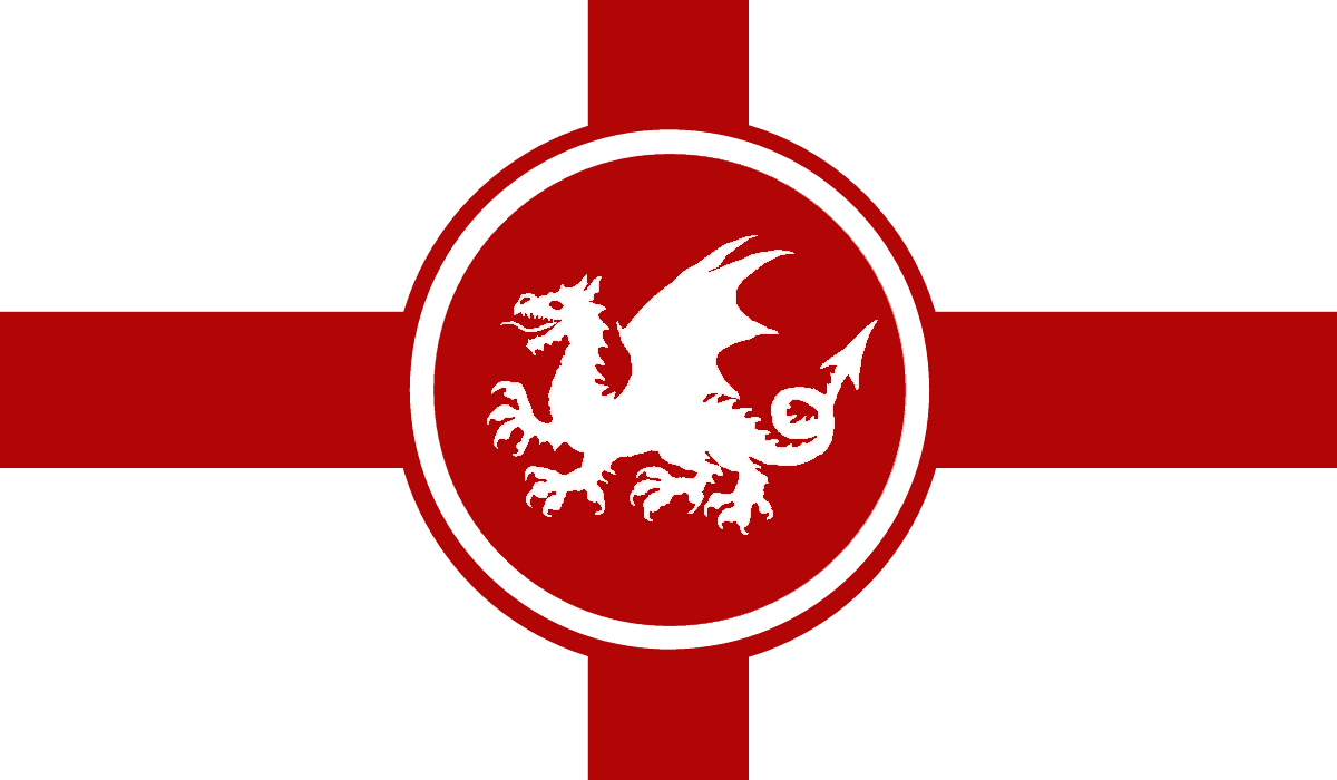 Flag of the Kingdom of England under the Skyson dynasty.png