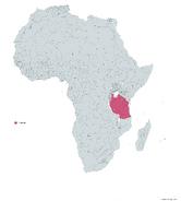 TANZANIA MAPA 1993 LGMS