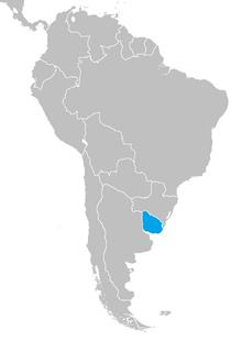 Localización de Uruguay