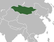 Location of Mongolian People's Republic
