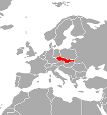 Localización de Checoslovaquia