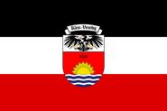 Flagge Venezuelas als Deutsches Colonie (Klein Venedig)