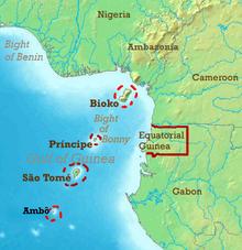 Location of The Republic of Equatorial Guinea