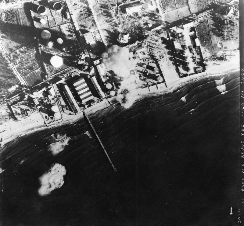 11 Squadron RAF Blenheims bombing Beirut 1941 IWM HU 93073.jpg