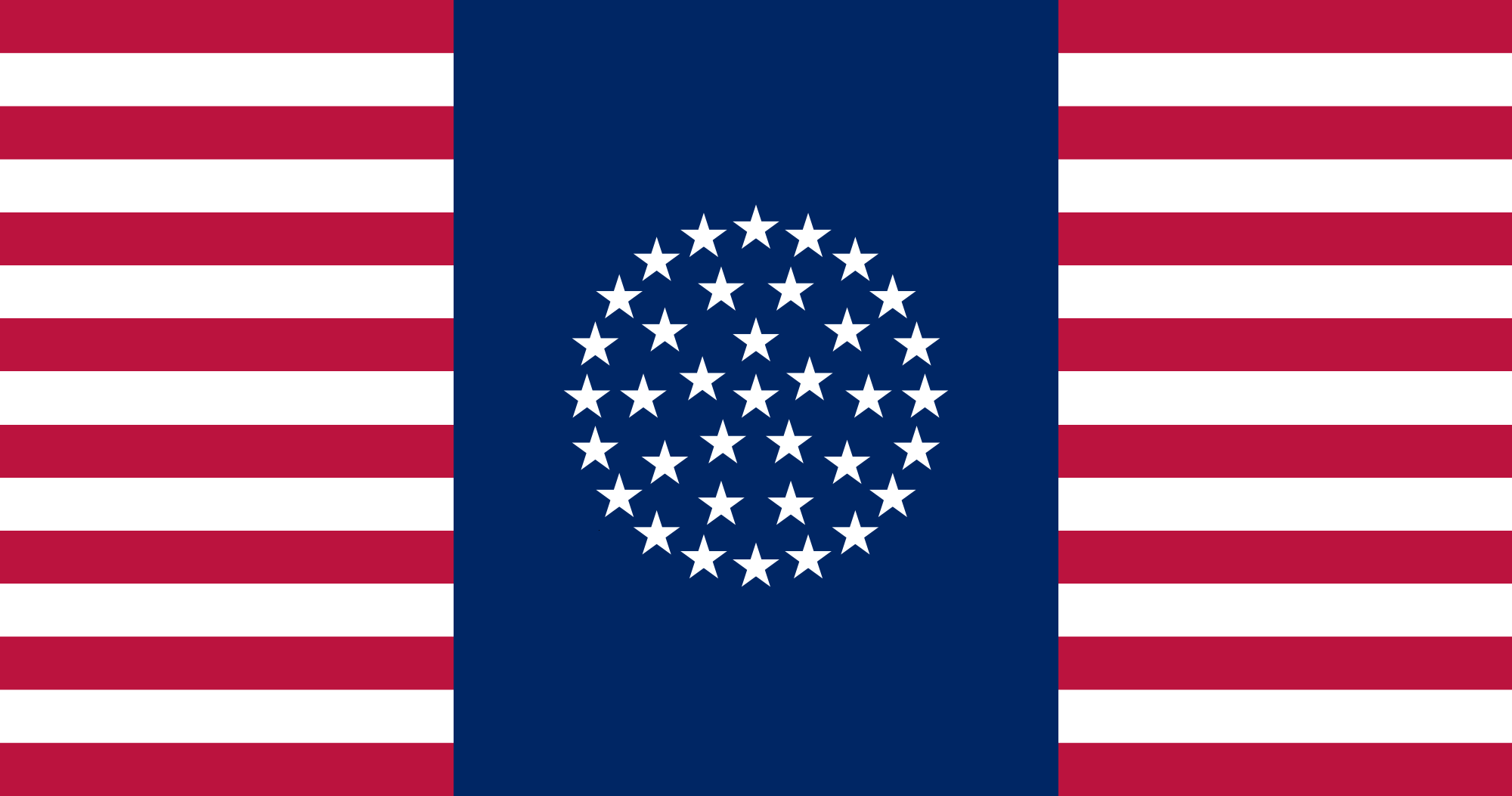 Flag of the United States 36 Stars (Rule, Britannia!).png