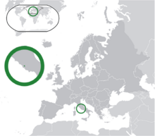 Location of Vatican City State/Holy See