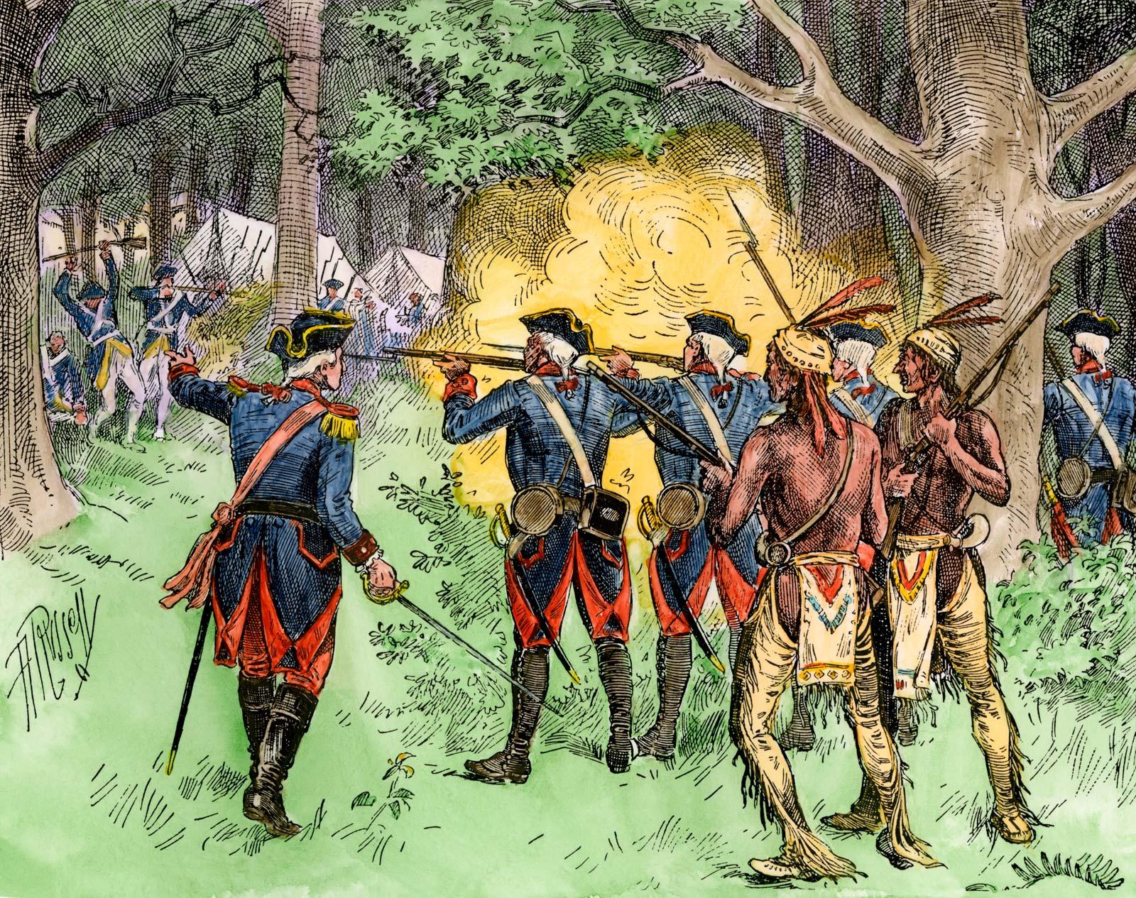 Battle of Jumonville Glen (Washington Killed)