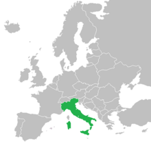 Location of Italy