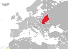 Localización de Belarus