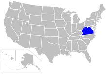 Location of Commonwealth of Virginia