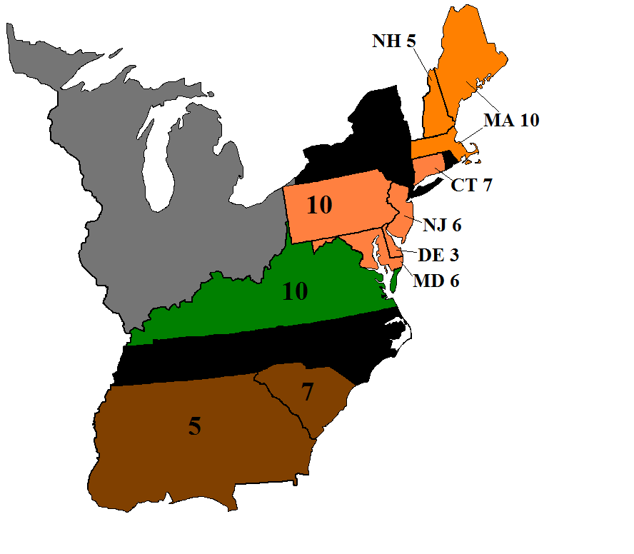 Election Inssurection, 1788 United States Presidential Prediction Map.png