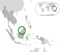 Location of Nation of Brunei, Abode of Peace