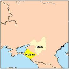 Location of Kuban People's Republic