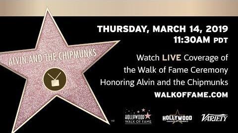 Alvin & The Chipmunks - Hollywood Walk of Fame Ceremony
