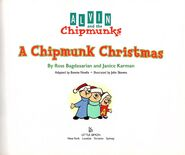 A Chipmunk Christmas (with CD) Title Page