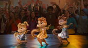The Chipettes' sequin dress outfits