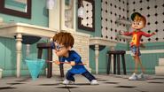 Alvin and Simon searching for Eggbert