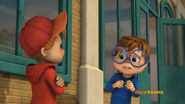 Alvin and Simon in Bathroom Bully