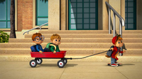 The Chipmunks Heading to School