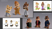 Chipmunks Concert Wardrobe and Chipettes Finals Dress concepts