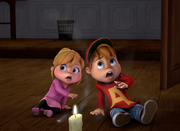 Alvin and Brittany in School Alone