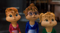 The Chipettes in their original performance outfits