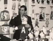 Ross Sr. with Chipmunk Merchandise