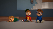 The Chipmunks on the ceiling of the Seville House