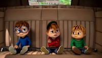 The Chipmunks in Dave's car
