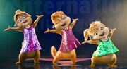 The Chipettes' second sequin dress outfits