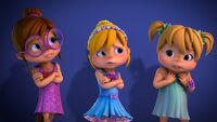 The Chipettes in Father Daughter Dance