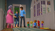 Dave, Officer Dangus, Miss Miller, The Chipmunks and The Chipettes in Writer's Block