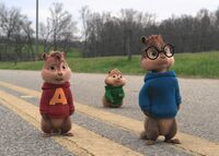 The Chipmunks on the road