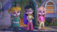 The Chipettes as Charlie's Angels