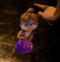 Jeanette In Purple Dress With Attitude
