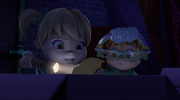 Theodore and Eleanor in The Great Chipmunk Detective