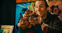 Dave and the Chipmunks two fingers in the head