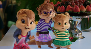 The Chipettes Sneaking Out of the Party