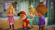 The Chipettes and Alvin in Deserted