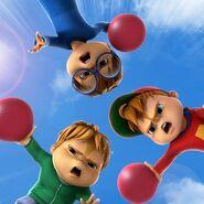 The Chipmunks in Mega Bounce Battle