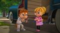 Alvin y Brittany en Señor Modales