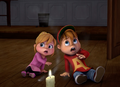 Alvin and Brittany in School Alone